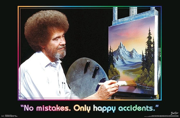 Bob Ross - Accidents Wall Poster - Kryptonite Character Store