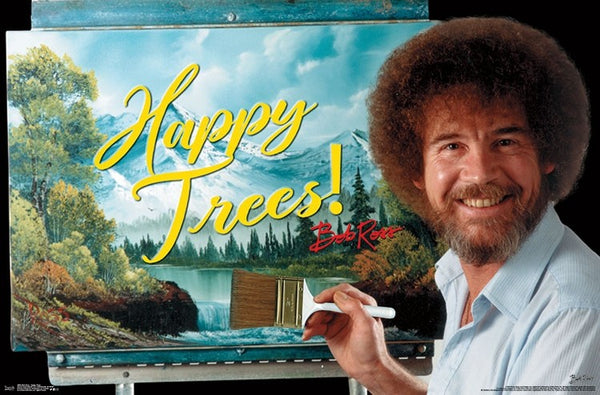 Bob Ross - Happy Trees Wall Poster - Kryptonite Character Store