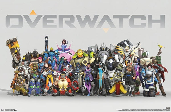 Overwatch - Anniversary Line Up Wall Poster - Kryptonite Character Store