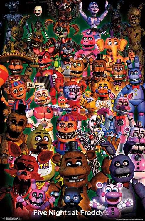 FNAF - Ultimate Group Wall Poster - Kryptonite Character Store