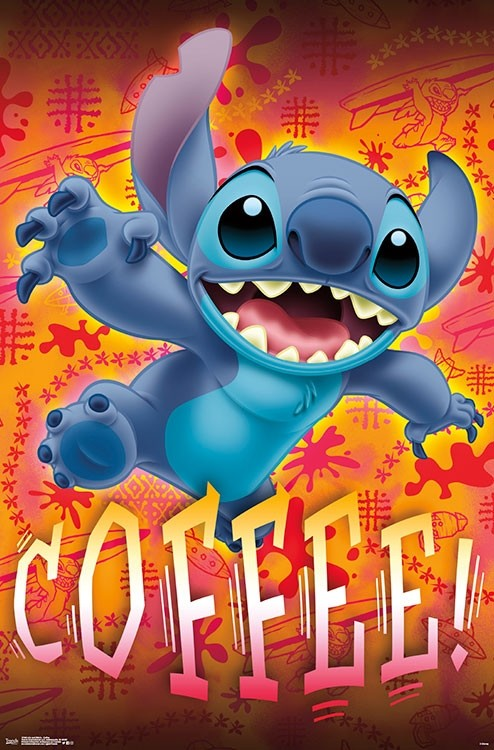 Lilo and Stitch - Coffee Wall Poster - Kryptonite Character Store