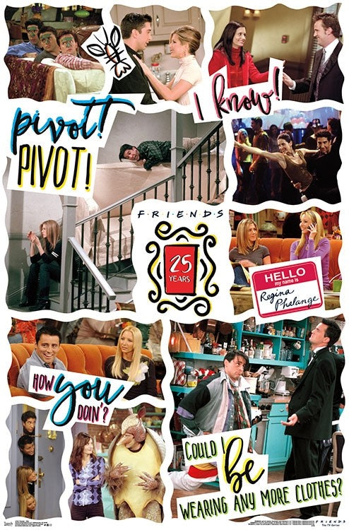Friends - 25th Wall Poster - Kryptonite Character Store