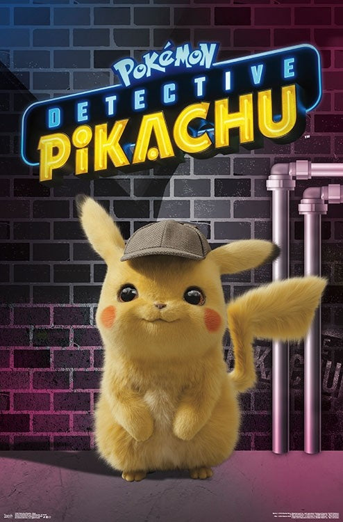 Detective Pikachu - Neon Wall Poster - Kryptonite Character Store
