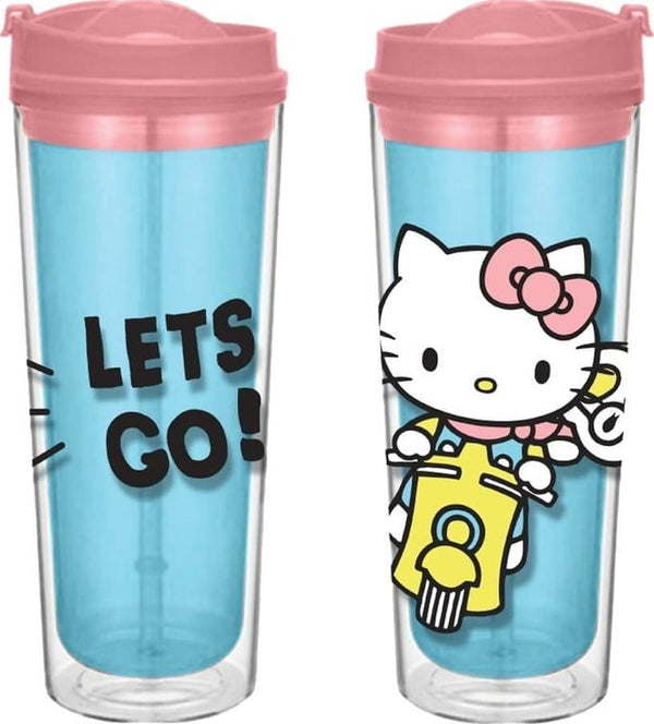 "Hello Kitty ""Let's Go"" Travel Tumbler Cup - Kryptonite Character Store"