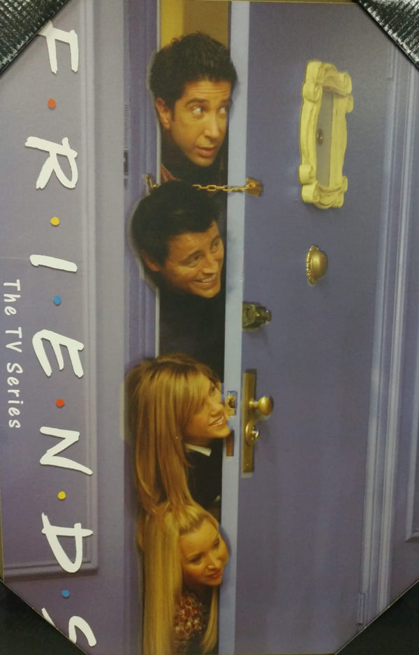 Friends Peeking Throught Door 13 x 19 wall art