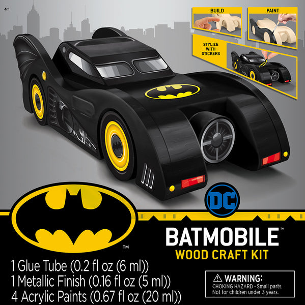 DC Comics Batmobile Buildable Licensed Wood Paint Kit