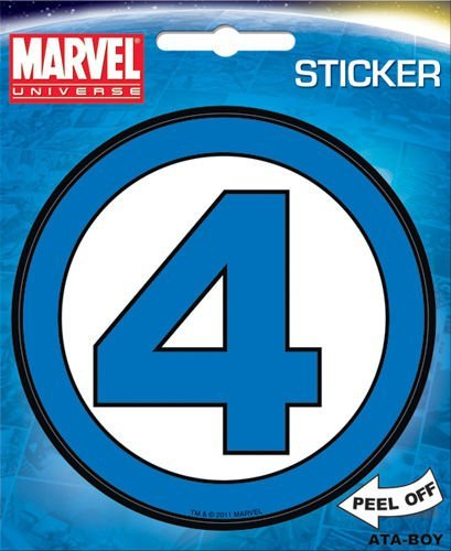 Marvel Comics - Fantastic Four Logo Die Cut Stickers