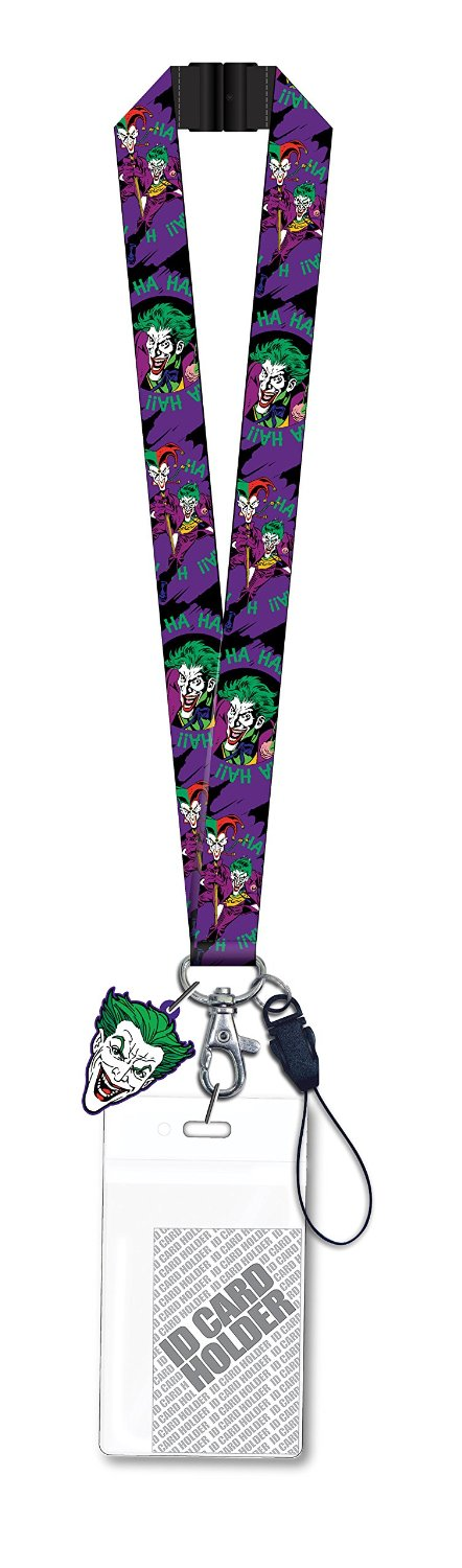 DC Comics Joker Lanyard with Soft Dangle Hang Tag