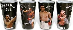 Muhammad Ali 4 Piece Pint Glass Set - Kryptonite Character Store