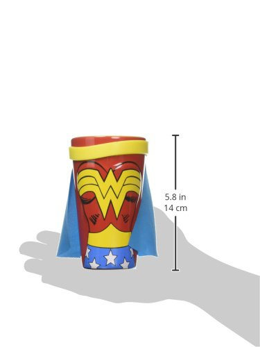 ICUP DC Wonder Woman Molded Caped Ceramic Pint Glass