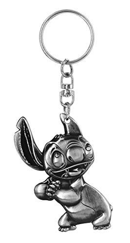 Disney Stitch Pewter Key Ring - Kryptonite Character Store