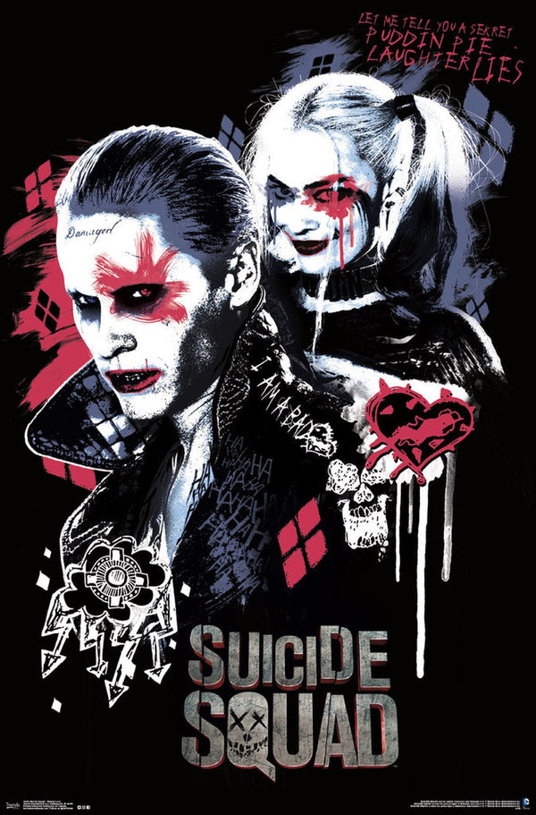 Suicide Joker & Harley Quinn Twisted Love Poster - Kryptonite Character Store