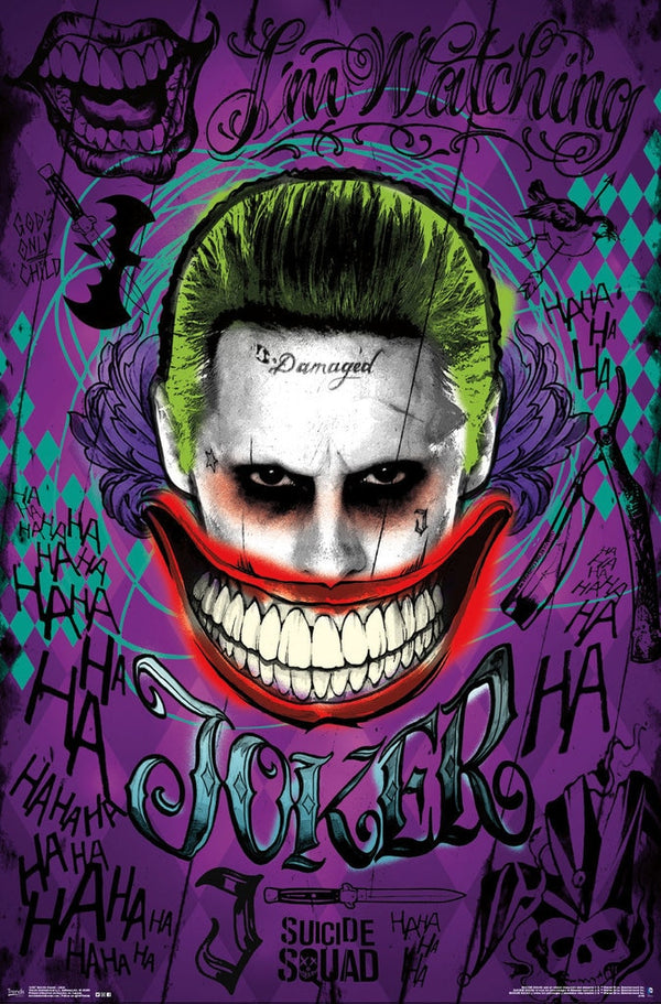 Suicide Squad Joker Laugh Poster - Kryptonite Character Store