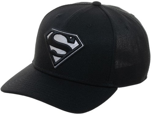 DC Comics Superman Carbon Fiber Black Baseball Hat