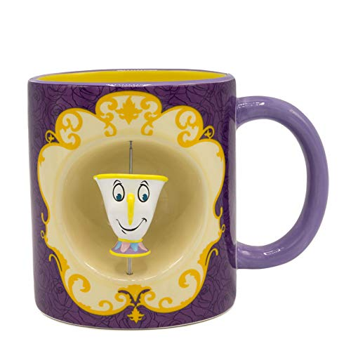 Disney Belle and Friends with Chip Ceramic Spinner 20oz. Mug - Kryptonite Character Store