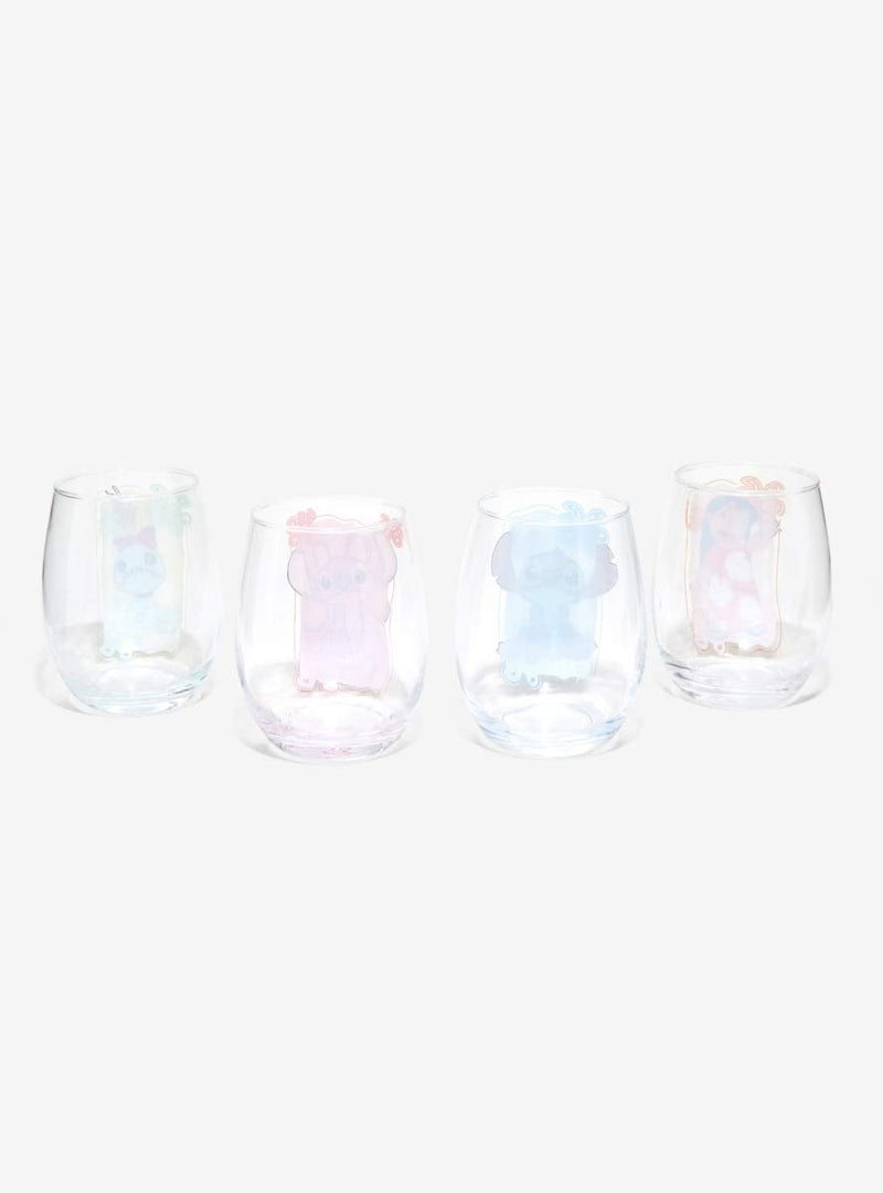 Disney Lilo & Stitch Stemless Wine Glass Set - Kryptonite Character Store