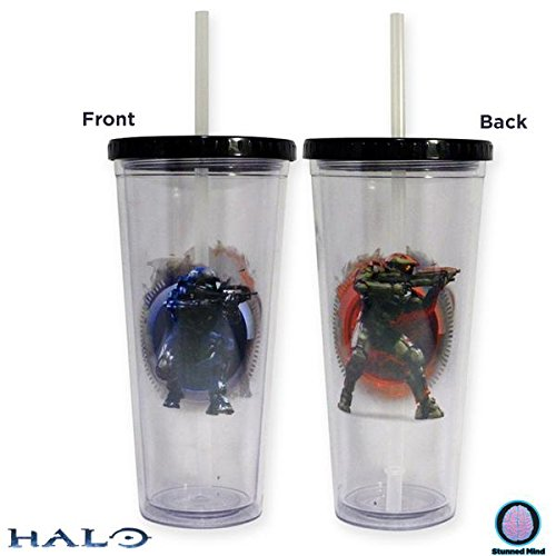 Halo OFFICIAL Master Chief & Spartan PREMIUM Tumbler- Kryptonite Character Store