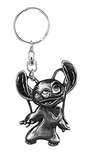 Stitch Angel Pewter Key Ring - Kryptonite Character Store