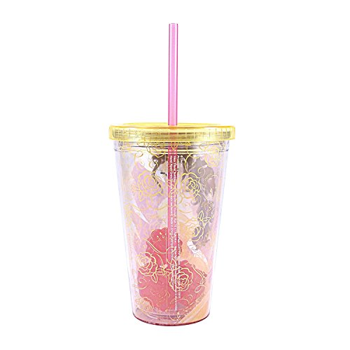 Disney Princess Belle 16oz Straw Cup with Ice Cubes - Kryptonite Character Store