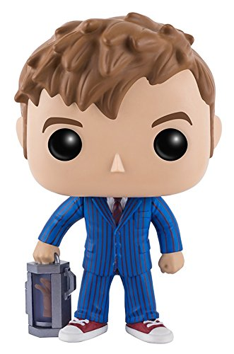 Funko POP Television: Doctor Who - 10th Doctor with Hand Action Figure - Kryptonite Character Store
