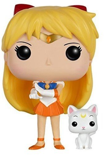 Funko POP Anime: Sailor Moon - Sailor Venus with Artemis Action Figure - Kryptonite Character Store