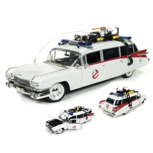 Auto World AWSS118 Ghostbusters ECTO-1 1959 Cadillac 1:18 Scale Die Cast Replica - Kryptonite Character Store