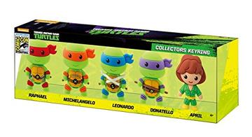 2015 SDCC TEENAGE MUTANT NINJA TURTLES 3D FOAM KEY RING SET (5 PIECE)