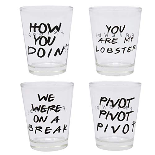 Friends 4-Pack Shot Glass Set - Kryptonite Character Store