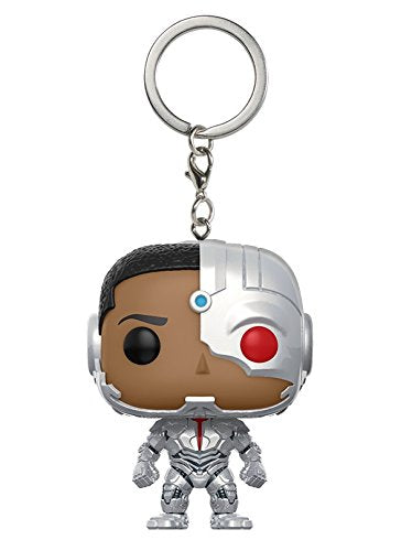 Funko POP Pocket Justice League Cyborg Mini Pop Keychain