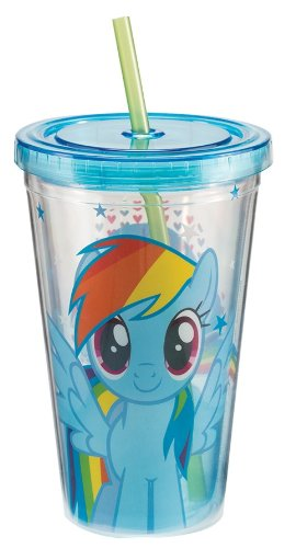 My Little Pony Rainbow Dash 18oz. Straw Cup - Kryptonite Character Store