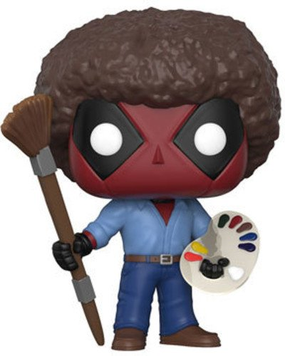 Funko Pop Marvel: Deadpool Playtime-Bob Ross Collectible Figure