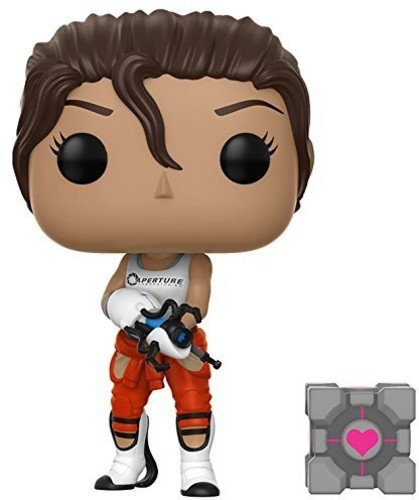 Funko Pop Games: Portal - Chell Collectible Vinyl Figure with Portal Gun