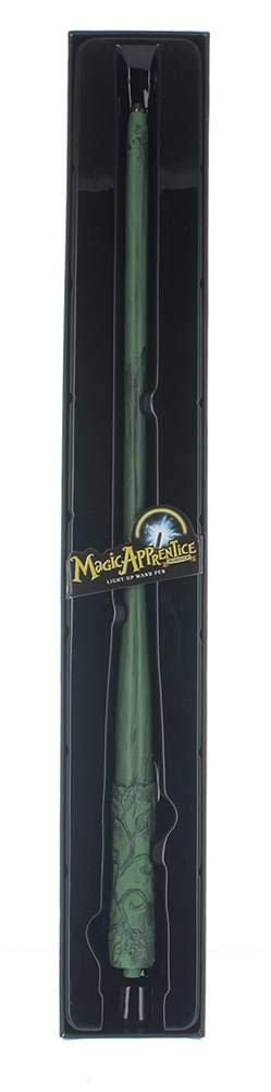 Harry Potter Magic Apprentice Wizard Sorcerer's Light Up Green Wand and Pen - Kryptonite Character Store