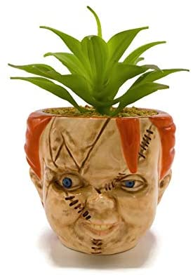 Chucky Face Ceramic Planter