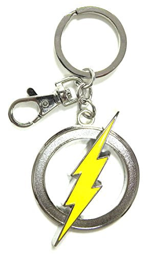 The Flash Logo Pewter Keychain - Kryptonite Character Store