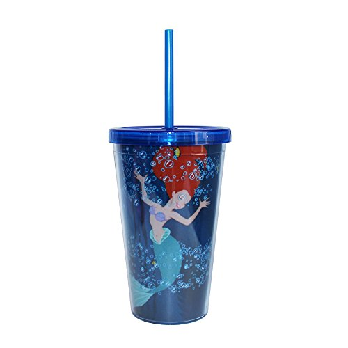Disney Princess Ariel 16oz. Straw Cup - Kryptonite Character Store