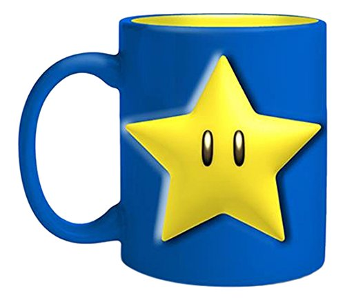 JUST FUNKY Mario Stars and Mushrooms Coffee Mug