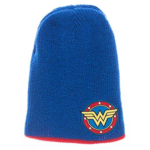 Wonder Woman Reversible Slouch Red-Blue Beanie - Kryptonite Character Store