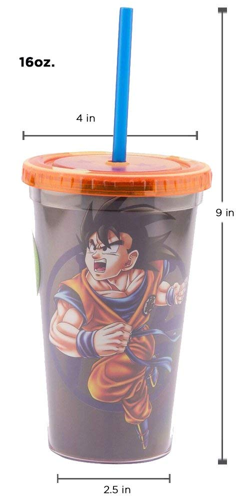 Dragon Ball Z Son-Goku Tumbler Travel Cup, 16oz - Kryptonite Character Store