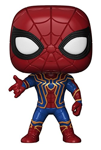 Funko Pop Marvel: Avengers Infinity War-Iron Spider Collectible Figure, Multicolor - Kryptonite Character Store