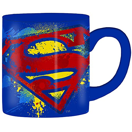 Superman Splatter Paint Logo 14oz. Ceramic Mug - Kryptonite Character Store