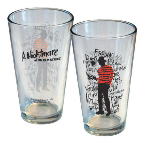 Nightmare on Elm Street Freddy Scribbles Pint Glass