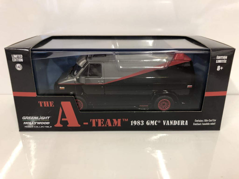 1983 GMC Vandura - The A-Team (TV Series, 1983-87), Authentic TV Show Decoration, Custom Themed Packaging, Officially Licensed, Protective Acrylic Case, Real Rubber Tires, Chrome Accents, - Kryptonite Character Store