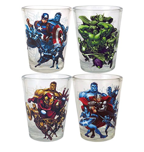 Marvel Avengers Mini Glass 4-Pack - Kryptonite Character Store