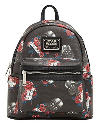 Loungefly Star Wars Darth Vader Tattoo Print Mini Backpack