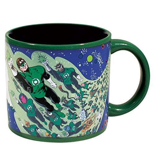 Green Lantern Corps Heat Changing 14oz. Mug - Kryptonite Character Store