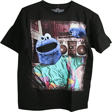 "Sesame Street Cookie Monster ""Carrying Boombox"" T-shirt - Kryptonite Character Store"