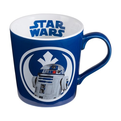 Vandor Set of Star Wars, 12oz Ceramic R2D2 Mug, Bleep Bleep Bloop
