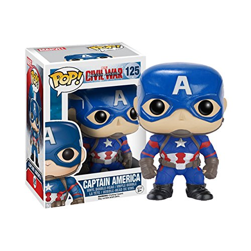 Funko POP Marvel: Captain America 3: Civil War Action Figure - Captain America - Kryptonite Character Store