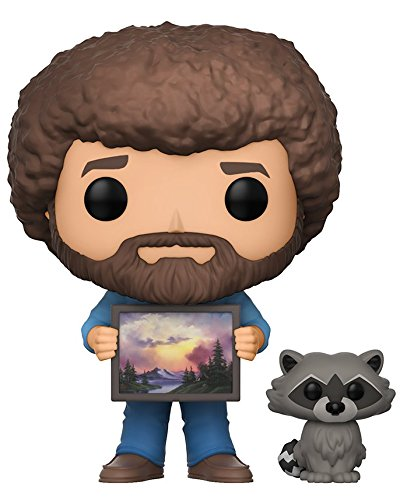 Funko Pop TV Bob Ross with Raccoon (Styles May Vary) Collectible Figure - Kryptonite Character Store